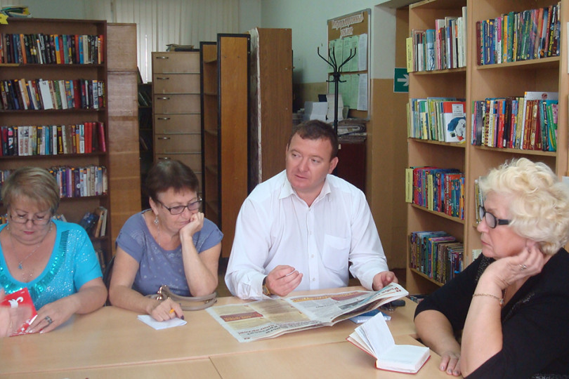 Встреча с помощником депутата Е. А. Сошенко