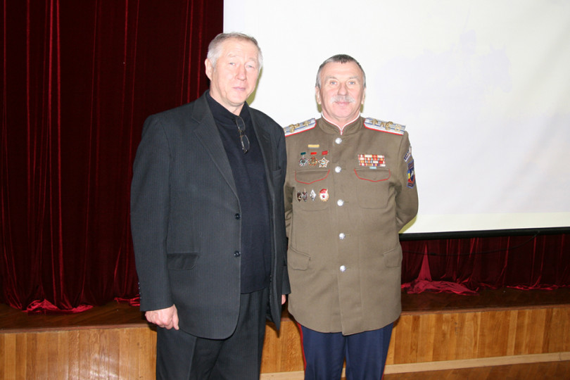 Встреча с атаманом Белгородского казачьего округа полковником Костюковым Е. И.