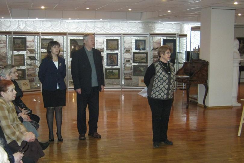 Открытие выставки художника Льва Саксонова