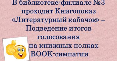 «BOOK-симпатия»