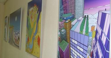 Выставка картин в стиле хай-тек Михаила Бужинского