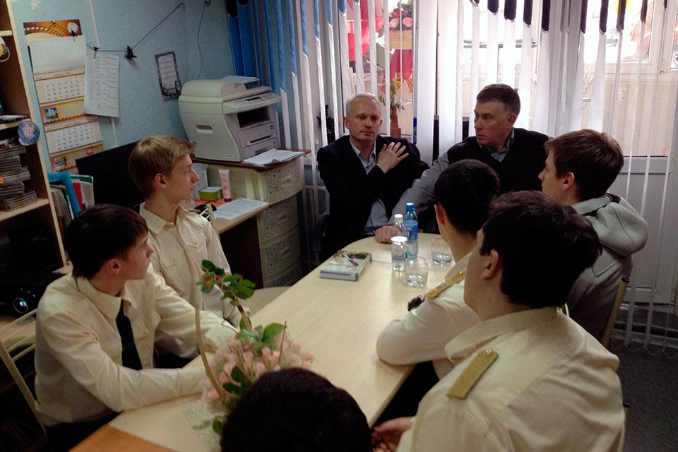 Встреча с белгородскими писателями С. Г. Мильшиным и В. М. Жураховым
