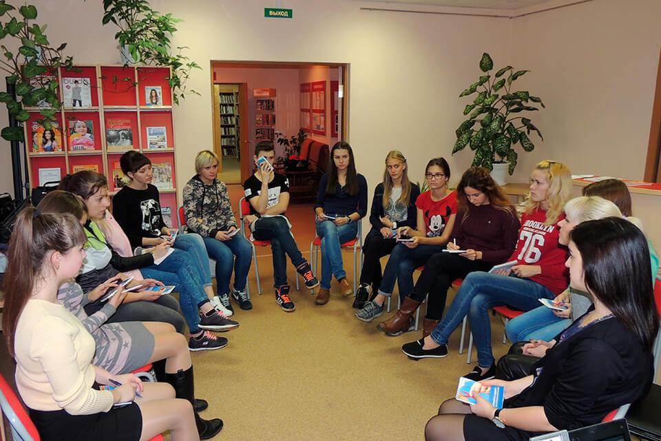 Занятие-тренинг в школе волонтеров