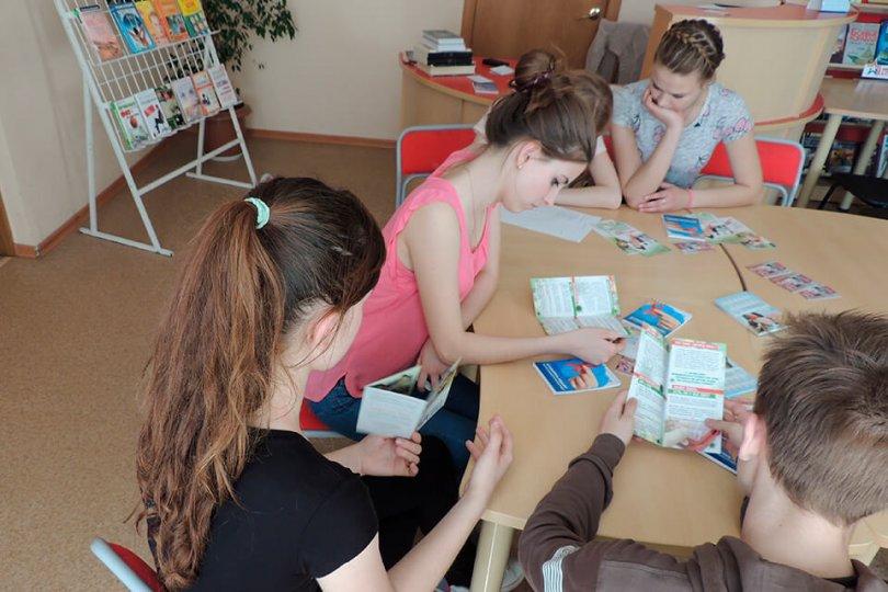 Занятие в школе волонтеров