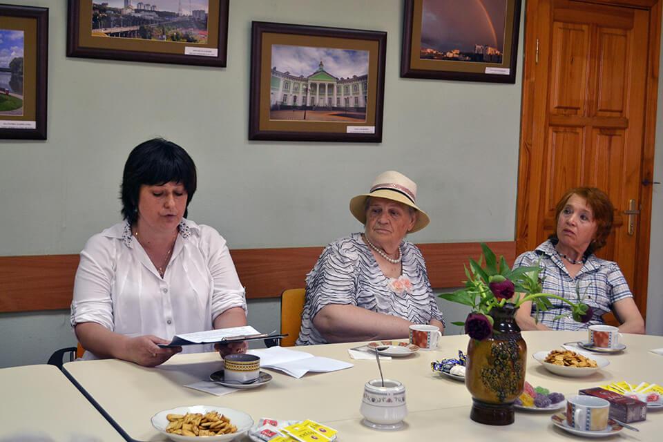 Заседание клуба пожилых людей «Ветеран»