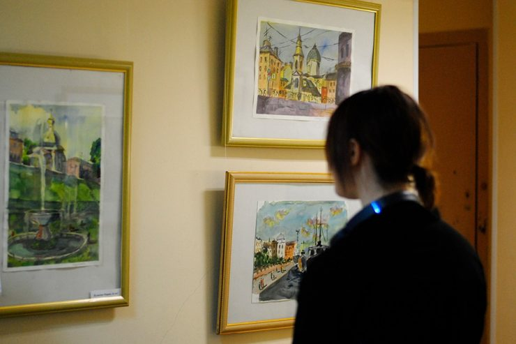 Открытие выставок «Мастера и студенты» и «Постижение Петербурга»