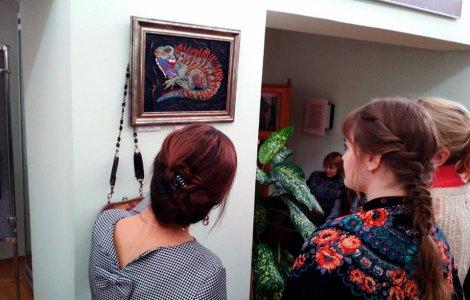 Открытие выставки «Бисерная поэзия» Ирины Анциферовой