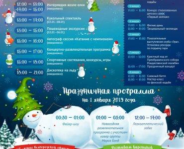 Новогодние каникулы наСоборной площади